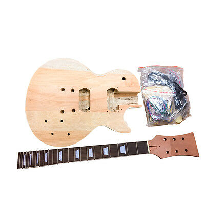 Mahogany HY320 Electric Guitar DIY Kit for Luthier maker. Very low start