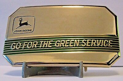 1990 John Deere 2 Leg Deer Logo Go FOR The Green Service Belt Buckle Ltd Ed #32