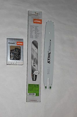 """Genuine Stihl 16"""" Guide Bar And Chain 3/8P, 1,3Mm/0.050"""""""