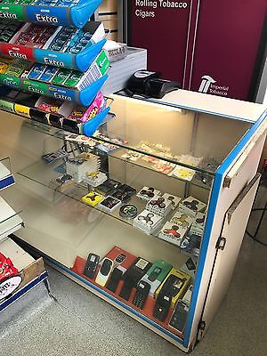 Glass Shop Counter Retail Display Counter With Glass Shelf And Till Point