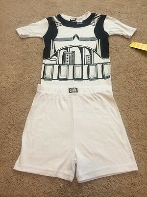 Boy's Size 10,Two Piece Short Pants And Sleeve Storm Trooper Pajama Set