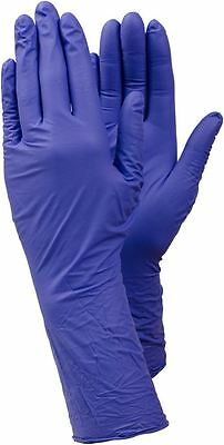Size XL Box 100 TEGERA Accelerator Free Nitrile PF Disposable Gloves Long Cuff