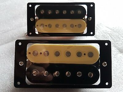 NEW  'HOT' ZEBRA Humbucker Pickup SET for Les paul, SG etc with mounting rings