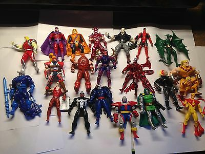 """Lot Of 20 Marvel Comics Villains Action 5"""" Figures RARE Carnage Thanos more!"""