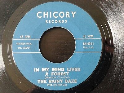 """The Rainy Daze - In my mind lives a forest / That acapulco gold ~ 7"""" psych 1967"""