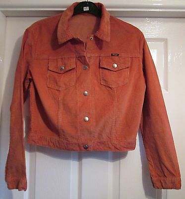 Vintage 1970's Children's Wrangler Corduroy Jacket Age 14 Burnt Orange