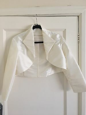 bridal bolero jacket Sz 16