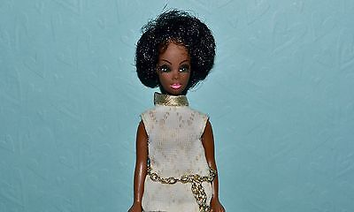 Vintage Topper Dawn Doll Dale in White Dress with Chain Belt