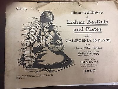 Rare Antique Illustrated History Of Indian Baskets and Plates Book California