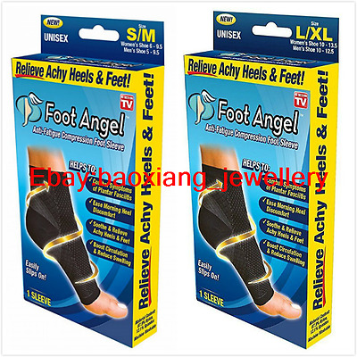 Foot Angel Anti Fatigue Compression 2 Pairs Ankle Swelling Plantar Relief S-XL