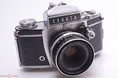 Nice & Works*  Exakta Varex Iia 35Mm Camera W/ Zeiss 50Mm 2.8 Tessar Q1 T