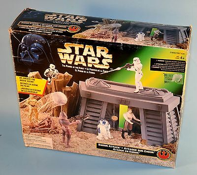 Star Wars POWER OF THE FORCE Endor Attack Action Figure Playset POTF
