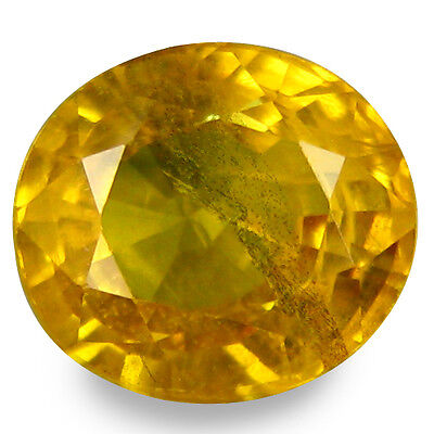 1.740Cts Marvelous Luster Yellow Natural Sapphire Oval Gemstones