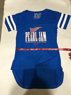 Pearl Jam Chicago Wrigley Field Live 2016 Tour Jersey Top, Blue, Women's S, New