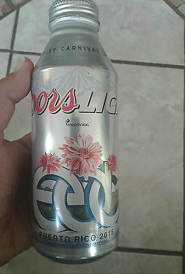 Puerto Rico Coors Light Beer Limited Edition 2015  Electric Daisy Carnival Rare!