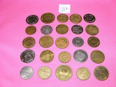 Lot of 25 Assorted Tokens, Gaming, Vending, Etc...  Lot #25D