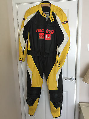 Aprilia 2 Piece Motorbike Motorcycle Race Suit Leathers