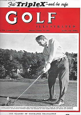 Vintage Golf Illustrated Magazine, Oct 31st, 1957.  Henry Longhurst page. VGC