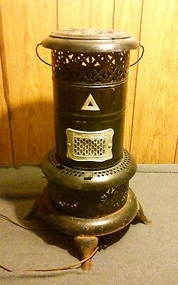 Vintage PERFECTION Smokeless Oil (Kerosene) Heater 630 Black Porcelain -USA-made