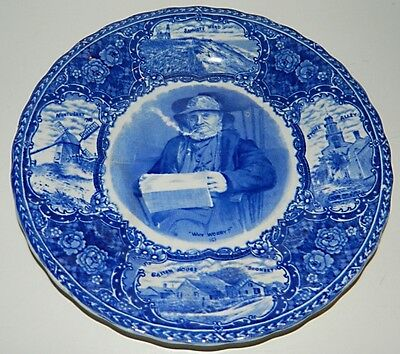Ye Olde Historical Pottery Plate - NANTUCKET Why Worry?