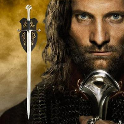 """S0704 Lord Of The Rings Anduril Sword Of King Elessar Aragorn W/ Inscription 52"""""""