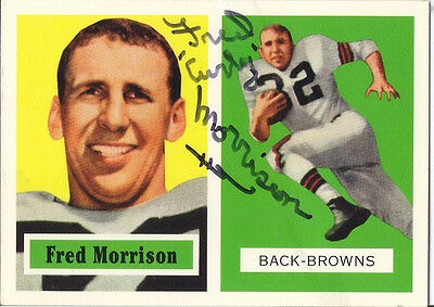 Fred Morrison The Ohio State Buckeyes/Browns Personally Autographed Archive Card