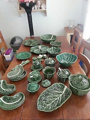 Green Cabbage Pottery, Bowls, Dishes, Plates Tureens etc - MASSIVE COLLECTION