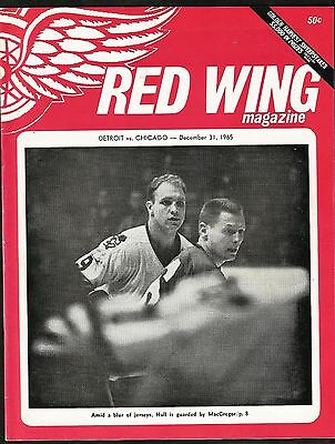 1965 Detroit Red Wings vs Chicago Black Hawks program