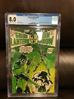 Green Lantern (1960-1988 1st Series DC) #76 CGC 8.0 New Case! KEY