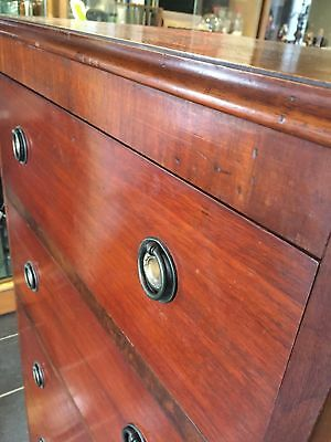 Vintage Tall Boy Chest Of Drawers  1350x460x60mm
