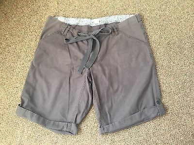 Mamas and Papas Maternity shorts, Size 14 Grey, Linen Cotton