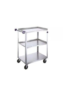 """Lakeside 16-3/4""""x27-5/8""""x32"""" 3-Tier Stainless Steel Utility Cart - 411A ~"""
