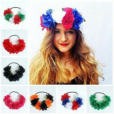 3pcs Women Girl's Flower Head Hollow Elastic Hair Band Headband Wedding Party