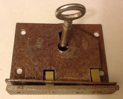 Reclaimed Steel Box,chest,cabinet Lock With Key