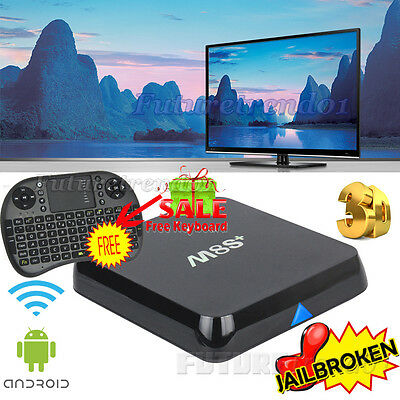 Latest M8S+ Plus 1080P Android 4.4 Smart TV Box Quad Core + Free Keyboard