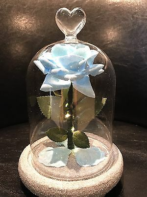 Beauty And The Beast Inspired Enchanted Rose Light Tiffany Blue * WEDDINGS*