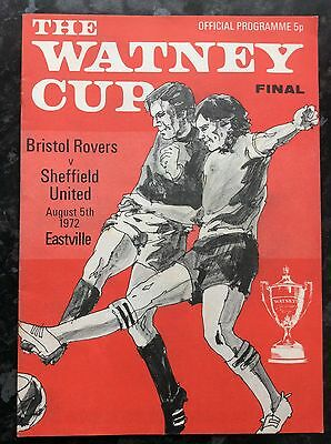 Bristol Rovers v Sheffield United 1972 WATNEY CUP FINAL at EASTVILLE STADIUM
