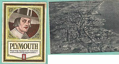 1932 PLYMOUTH Massachusetts Booklet by The Plymouth Chamber of Commerce