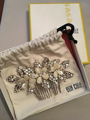 New In Box Erin Cole Bridal Wedding Hairpiece Comb Swarovski