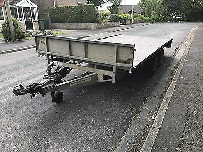 Ifor Williams LM146 Twin Axle Plant Tractor Flatbed Trailer