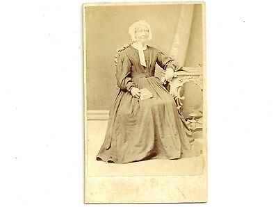 Antique CDV Photo Elderly Woman In Bonnet Galt Ontario Vintage Carte De Visite