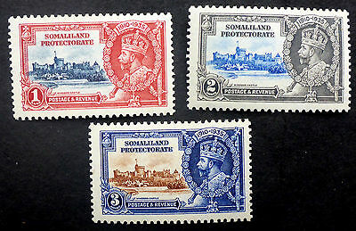 Somaliland Protectorate #86-8 Vf Mint  Beautiful Engraved 1935 Jubilee Issue
