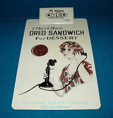 Retro! OREO SANDWICH COOKIE clipboard 75 Years @ 1986 Novelty NABISCO Promo