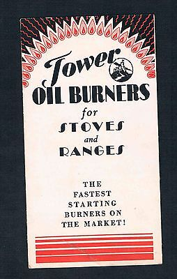 Tower Oil Burner for Stoves and Ranges Boston Mass. ca. 1930 Catalogue