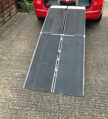 Car ramps, portable wheelchair, scooter, folding 7ft. Bike