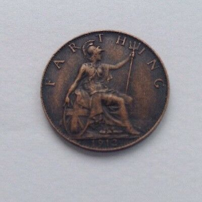 British farthing coin King George V 1912
