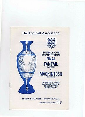 80/81 Fantail V Mackintosh (Sunday Cup Final)(Tranmere)
