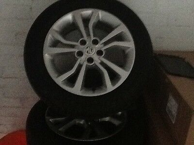 Set of 4 mg6 alloy wheels and tyres.