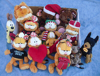 W-F-L TY Beanie Garfield Odie Pooky Luca Selection various sizes Cat
