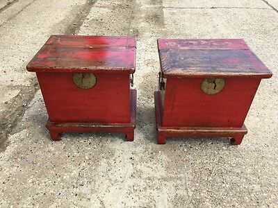 Antique Pair Chinese  Tables